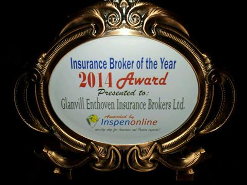 Glanvill won The 2014 Insurance Broker Awards